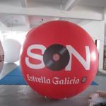 Globo gigante de helio - Zeppelin Santiago